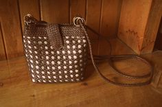 Vintage Woven Purse by SINGEDandFRAYED on Etsy,