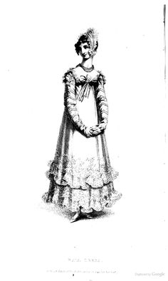 Ball Dress from from Ackermann's Repository of the Arts November 1817