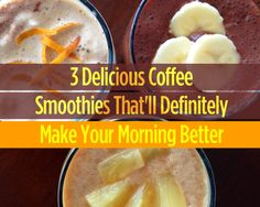 What if you could combine your two a. obsessions—coffee and smoothies—into one drink? Now you can, thanks to these buzz-worthy coffee smoothie from 3 Delicious Coffee Smoothies That'll Definitely Make Your Morning Better! Coffee Smoothie Recipes, Smoothie Drinks, Healthy Smoothies, Healthy Snacks, Healthy Eating, Breakfast Smoothies, Clean Eating, Healthy Recipes, Fat Burning Smoothies