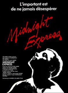 Midnight Express est un film de Alan Parker avec Brad Davis, Irene Miracle. Synopsis : Billy Hayes, touriste en Turquie, est arrêté à la frontière avec deux kilogrammes de drogue sur lui. Condamné à quelques jours de prison, le jeune homme voit sa peine mutée en perpétuité