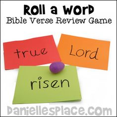 Quick and Easter Bible Games with a purpose for Sunday School and Children's Ministry Memory Verse Games, Memory Verses For Kids, Bible Study For Kids, Kids Bible, Sunday School Games, Sunday School Classroom, Church Games, Church Activities, Kids Church