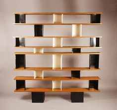 Charlotte Perriand and Jean Prouve c 1950 - Magen Gallery Charlotte Perriand, Funky Furniture, Furniture Styles, Vintage Furniture, Furniture Design, Bookcase Shelves, Shelving Units, Bookcases, Shelf Design