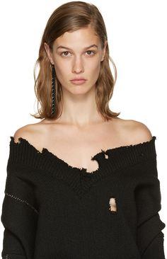 Ribeyron - Boucle d'oreille noire Long Pierced