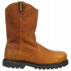 Caterpillar Men's Edgework Unlined Medium/Wide Steel Toe Work Boots (Mahogany)