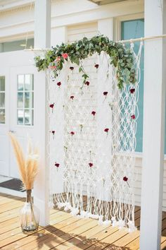 Bohemian Photo Backdrop from a Boho Baby Shower via Kara's Party Ideas | KarasPartyIdeas.com (72)