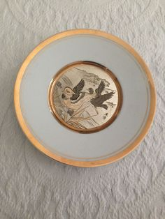 Vintage Chokin 24k Collector Plate Pheasants