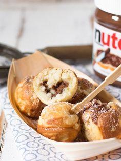 Nutella Filled Pancake Pops