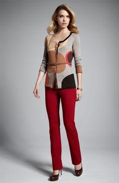 NWOT $120 NYDJ Not Your Daughters Jeans Ryan Sz 4 Ponte Knit Pants Straight Leg #NYDJ #DressPants