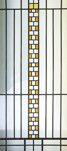 Detail motif Art Deco Bath room - Bathroom Art Deco - films couleur et gélatines texturées - Honky Tonk Vitrail