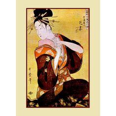 Kitagawa Utamaro. Ancient Japanese art Japanese painting Reproduction by CredoArt