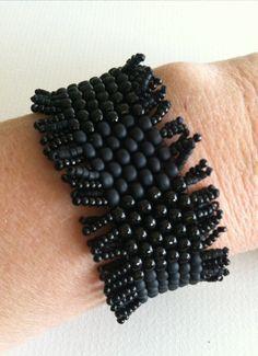 Fringed Cuff Bracelet by perriwinkledreams on Etsy, $65.00