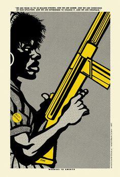 """Emory Douglas - """"Warning to America"""""""