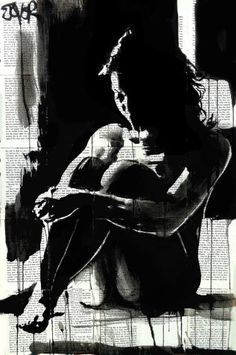 "Saatchi Art Artist Loui Jover; Drawing, ""when the night..."" /explore/art/"