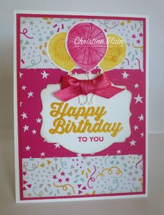 HAPPY HEART CARDS: STAMPIN' UP! BALLOON CELEBRATION AND PERFECT PAIRINGS