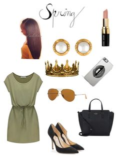 """Crowned "" by qveennnnnn on Polyvore featuring Paul Andrew, Ray-Ban, Chanel, Kate Spade, Seletti, Lipsy and Bobbi Brown Cosmetics"