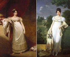Как сшить женское платье 1812 года