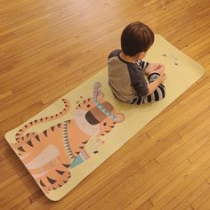 Our new kids yoga mats! We couldn't wait to share! We are now offering kids mats!! Personalize a mat now and get it before Christmas! How cute is this little guy on his new mat !  send us an email :info @anymatic.com if you want more information! #kidsyogamat#anymatic#custom#yogamatic#printedmat
