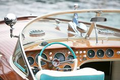 Chris Craft with turquoise