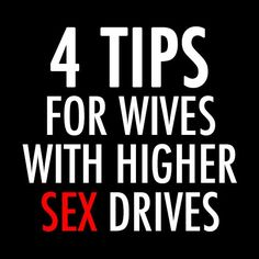 "4 Tips For Wives With Higher Sex Drives --- Wether you have a husband who is ill or is on antidepressants, or whatever the circumstance – you have the same problem as me. We want ""it"" more than he does. Even if its only once a week or once a month, it still may not be enough. I kn… Read More Here http://unveiledwife.com/4-tips-for-wives-with-higher-sex-drives/"