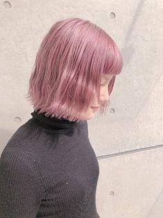 ブルー?ピンク?あなたはどっち派?夏に人気の髪色《ブルー&ピンク》カラー特集   bangs [バングス] Bob Hairstyles, Straight Hairstyles, Shoulder Length Straight Hair, Hair Reference, Pink Hair, Hair Inspiration, Bangs, Fashion Beauty, Hair Color