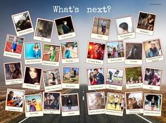 Rather than include the typical 'what's next?' yearbook question, why not make this into a collage using our polaroid frame design.