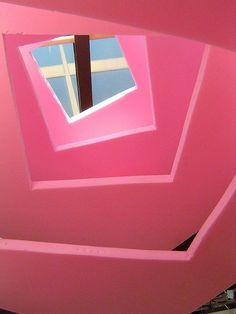 Architectural abstraction in pink