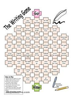 Board games 712413234780380937 - Board Game – The Writing Game worksheet – Free ESL printable worksheets made by teachers Source by jaymalshah Writing Games, Literacy Games, Writing Classes, Classroom Games, Writing Prompts, Esl Writing Activities, Articulation Activities, Vocabulary Games, Kids Writing