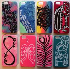 FALL CLEARANCE hand painted phone cases