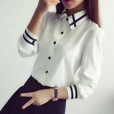 Resultado de imagen para camisas para damas manga largas elegantes con tela tafetan