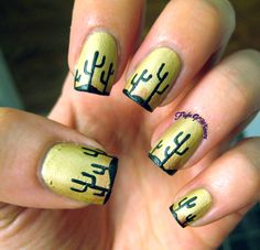 This nail art was incredibly easy, fast, and awesome looking! It took three colors, 30 minutes, and involved no clean up. Meet, the desert. I started with a base of Loess by Mentality. Loess is a s...