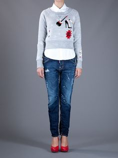 DSQUARED2 - cropped sweatshirt 7