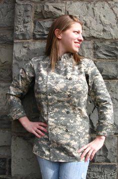 Digital Camoflage Women's Chef Coat