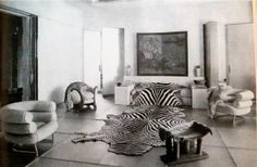 """Eileen Grey  Photograph from 'L'Illustration""""  1933  Room by Paul Ruaud, furniture by Eileen"""