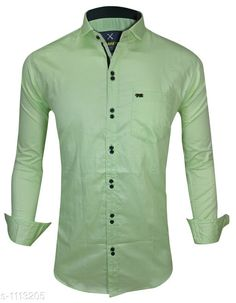 Checkout this latest Shirts Product Name: *Trendy Men's Cotton Shirt* Fabric: Cotton Sleeve Length: Long Sleeves Pattern: Solid Multipack: 1 Sizes: S, M, L, XL, XXL Country of Origin: India Easy Returns Available In Case Of Any Issue   Catalog Rating: ★4 (483)  Catalog Name: Elegant Mens Cotton Shirts Vol 10 CatalogID_137238 C70-SC1206 Code: 084-1113205-2121