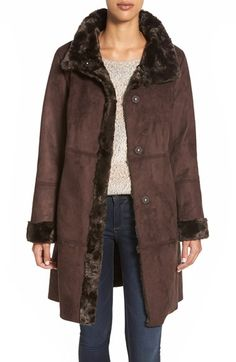 Ellen Tracy Faux Shearling Coat available at #Nordstrom