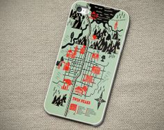 Twin Peaks Map - iPhone 4 4S iPhone 5 5S 5C and Samsung Galaxy S3 S4 C – Out of The Case