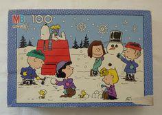 Vintage / Retro Peanuts A Charlie Brown Christmas Snoopy Woodstock Linus Lucy Sally Cartoon Movie Jigsaw Puzzle By Milton Bradley Snoopy Christmas, Charlie Brown Christmas, Charlie Brown Peanuts, Peanuts By Schulz, Peanuts Gang, Snow Scenes, Winter Scenes, 100 Piece Puzzles, Jigsaw Puzzles