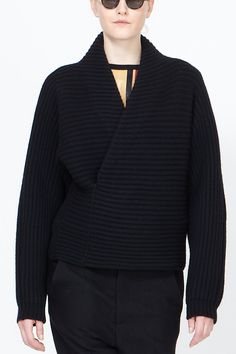 Haider Ackermann Wain Shawl Collar Sweater (Black)