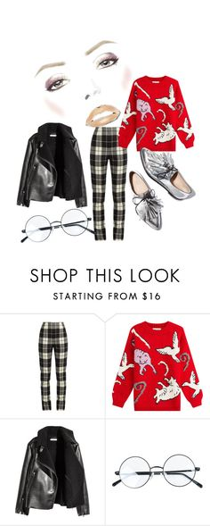 """""""Redstract"""" by xxelectre on Polyvore featuring MaxMara, Paul & Joe and Loeffler Randall"""