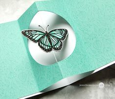 Surprise Inside Spinner Card Video by Jennifer McGuire Ink Card Making Tutorials, Card Making Techniques, Fancy Fold Cards, Folded Cards, Spinner Card, Pop Up, Interactive Cards, Shaped Cards, Square Card