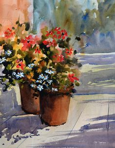 How to paint with gouache and watercolour