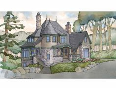 Shingle House Plan with 3477 Square Feet and 3 Bedrooms from Dream Home Source | House Plan Code DHSW75505