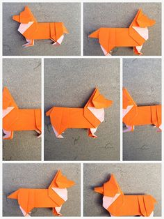 Origami Corgi steps on Steven Casey's photostream | Flickr - Photo Sharing! via How About Orange
