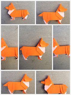 Corgi origami steps