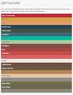 Ook deze kleuren passen goed bij mij.