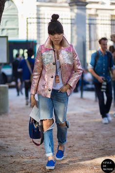 Susanna Lau Susie Bubble Street Style Street Fashion Streetsnaps by STYLEDUMONDE Street Style Fashion Blog