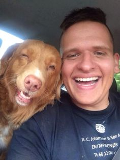 My friend and his dog! Priceless! Danish style!!