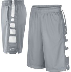 Derek - Grey and White Sz. Lg Nike Boys' Elite Stripe Basketball Shorts - Dick's Sporting Goods