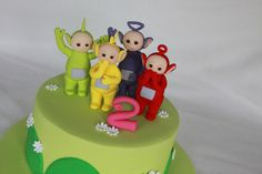 Close up of Tubbies Teletubbies Birthday Cake, Teletubbies Cake, 2 Birthday Cake, Baby 1st Birthday, Moon Pies, Paris Cakes, Fondant Tips, Gorgeous Cakes, Cakes For Boys