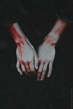 """Aw, shit, look at you."" ""Dean, I'm ok, I'm ok."" ""You're bleeding, darlin."" ""I'm ok though. Dean look at me. I'm ok."""
